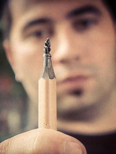 新作!?鉛筆の芯で作る彫刻が凄いwwwの画像(11枚目)