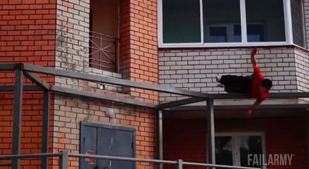 パルクール、フリーランニングの失敗している動画4