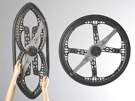 折りたためる自転車のホイールの画像(3枚目)