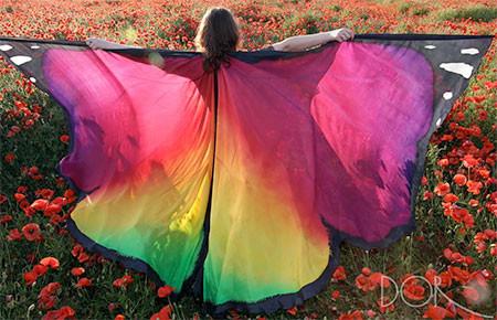 蝶や白鳥に見える美しいマントの画像16
