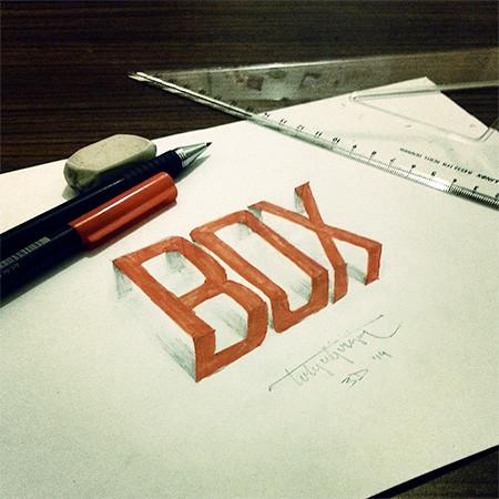 ノートにペンだけで描いた3Dの文字が凄い!!の画像(5枚目)