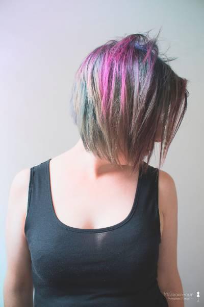 虹のような髪の毛の女の子の画像(12枚目)