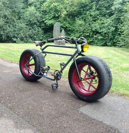 自動車のタイヤを履いた自転車の画像(8枚目)