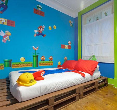 部屋一面スーパーマリオの画像(2枚目)