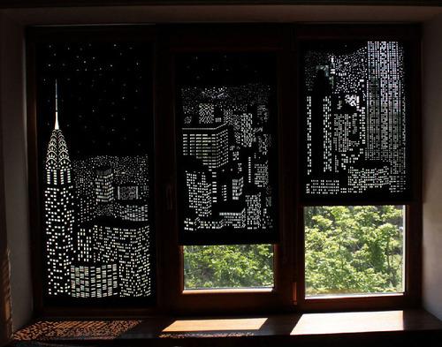 夜景のような景色のカーテンの画像(2枚目)