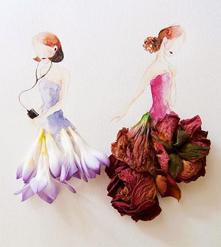 本物の花で描いたアートが華やかで癒される!!の画像(15枚目)