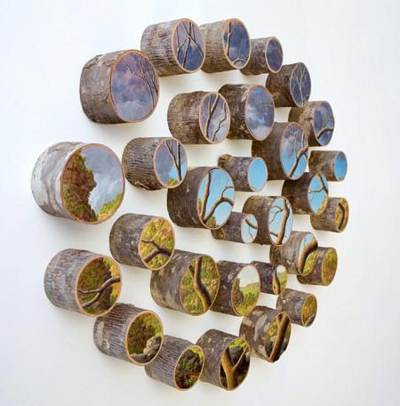木の年輪に描かれた絵11