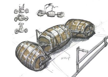 ワインの樽の自転車04