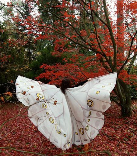 蝶や白鳥に見える美しいマントの画像8