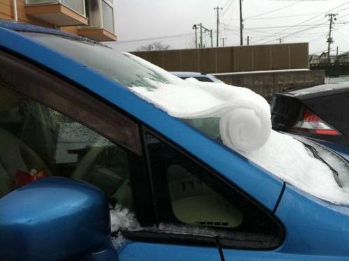 凍っている自動車の画像(30枚目)