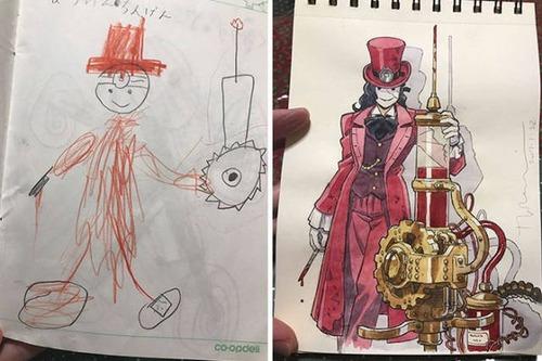 子供の落書きのキャラの画像(11枚目)