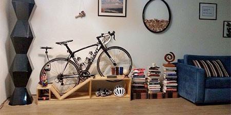 ちょっとした工夫で自転車の収納がカッコよくなる!の画像(1枚目)