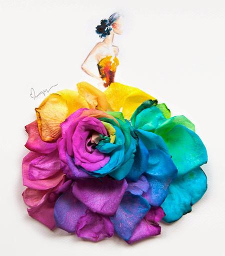 本物の花で描いたアートが華やかで癒される!!の画像(2枚目)