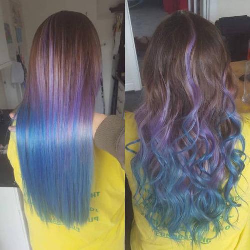 虹のような髪の毛の女の子の画像(23枚目)