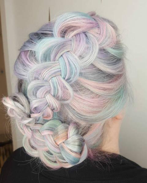 虹のような髪の毛の女の子の画像(31枚目)