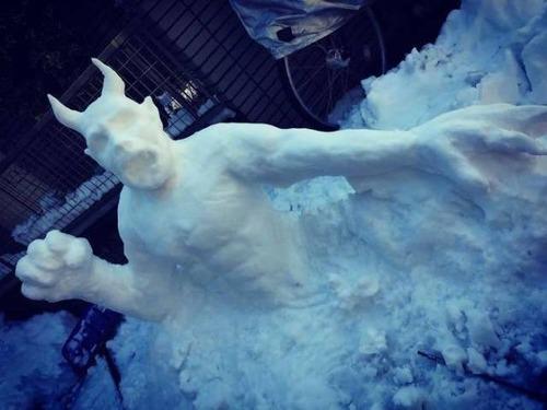 ハイクオリティな雪像の画像(1枚目)