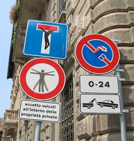 道路標識のストリートアート14