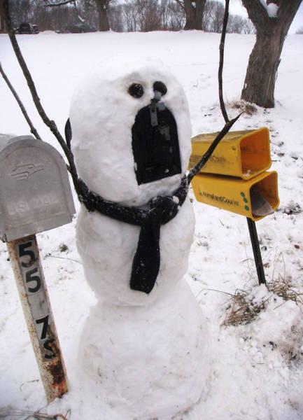 面白い雪だるまの画像(11枚目)