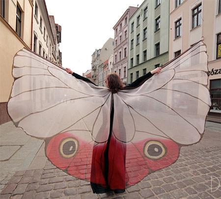 蝶や白鳥に見える美しいマントの画像5