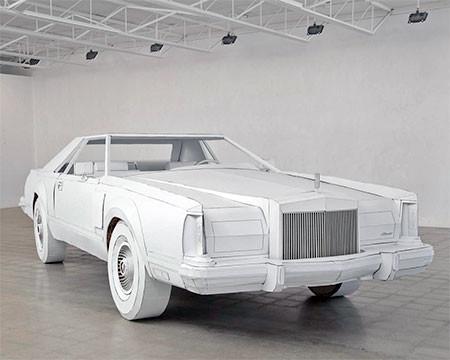 紙だけで再現した自動車の画像(11枚目)