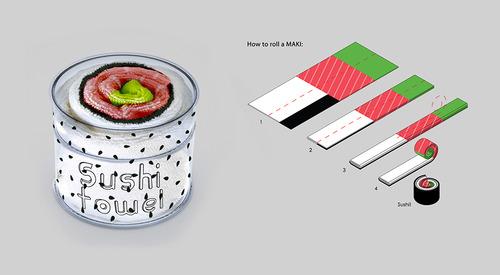 寿司のようなバスタオルの画像2