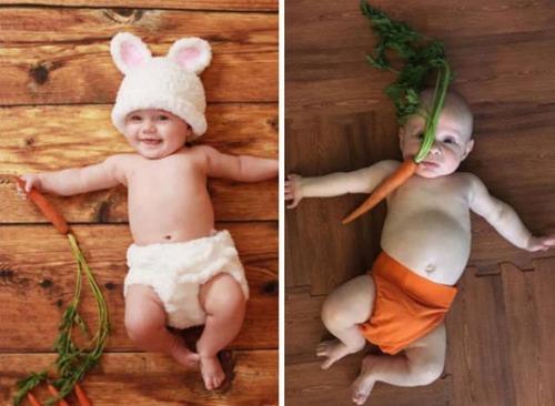 赤ちゃんとの記念撮影の理想と現実の画像(15枚目)