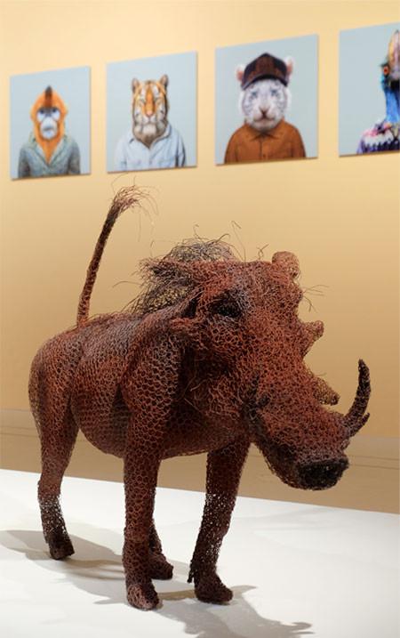 金網で作られた動物の画像(12枚目)