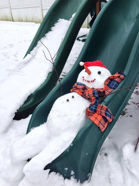 面白い雪だるまの画像(31枚目)