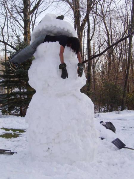 面白い雪だるまの画像(45枚目)