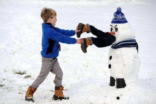 面白い雪だるまの画像(21枚目)