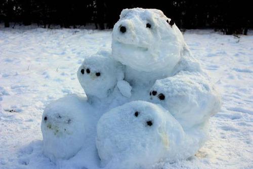 面白い雪だるまの画像(49枚目)