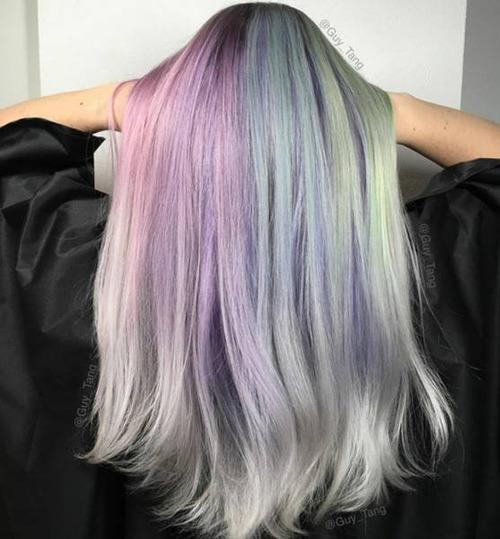 虹のような髪の毛の女の子の画像(18枚目)