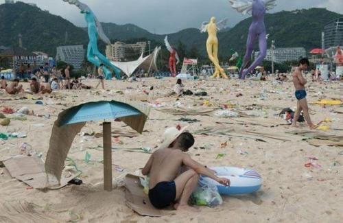 中国の海水浴場の画像(5枚目)