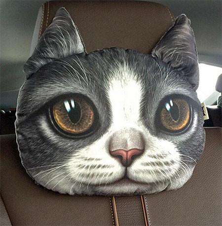 動物の顔の自動車用の枕の画像(6枚目)