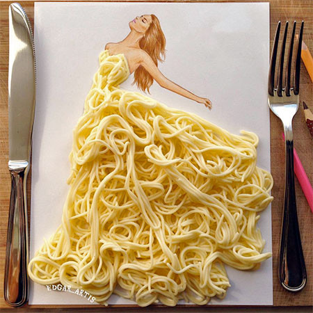 食べ物をドレスに見立てたイラストの画像(16枚目)