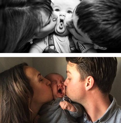 赤ちゃんとの記念撮影の理想と現実の画像(4枚目)