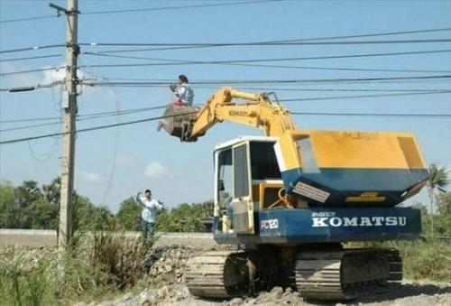 危険!ちょっと信じられない状態で作業をしている人たちの画像の数々!!の画像(12枚目)