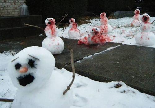 面白い雪だるまの画像(19枚目)