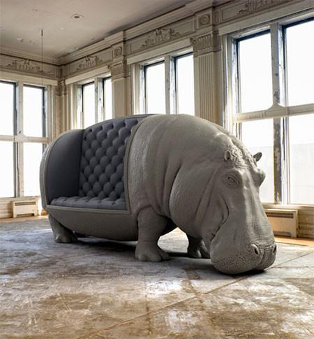 まるで本物!超リアルな動物の椅子が凄いwwwの画像(2枚目)