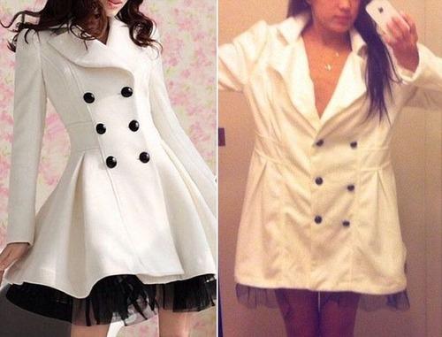 ちょっと酷い…女性の服の商品画像と届いた商品の比較画像の数々。。の画像(1枚目)