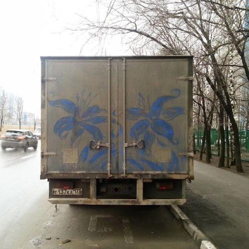 汚れた自動車のペイントの画像(5枚目)