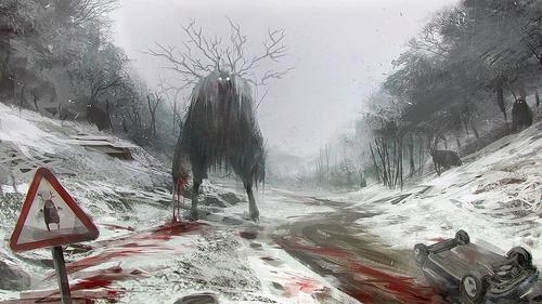 幻想的でドキドキする超巨大生物の壁紙!の画像(24枚目)