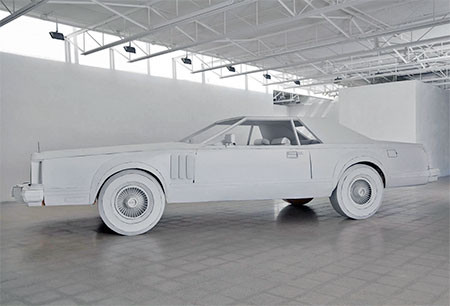紙だけで再現した自動車の画像(8枚目)