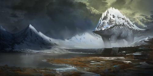幻想的でドキドキする超巨大生物の壁紙!の画像(3枚目)