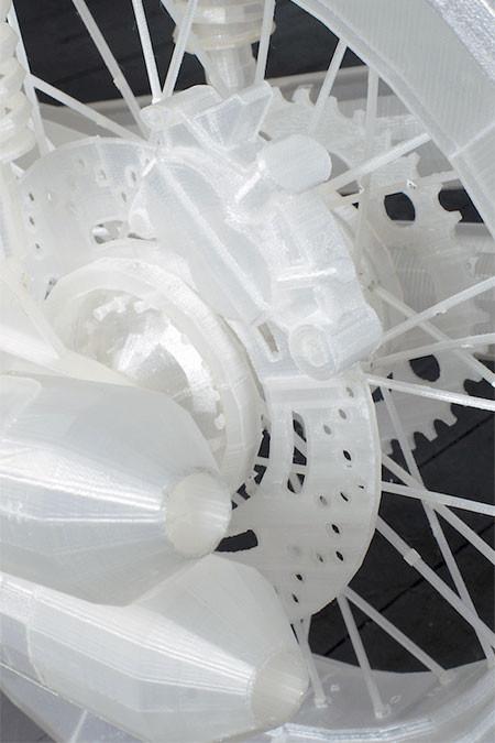 3Dプリンタで作った実物大のバイクの模型05