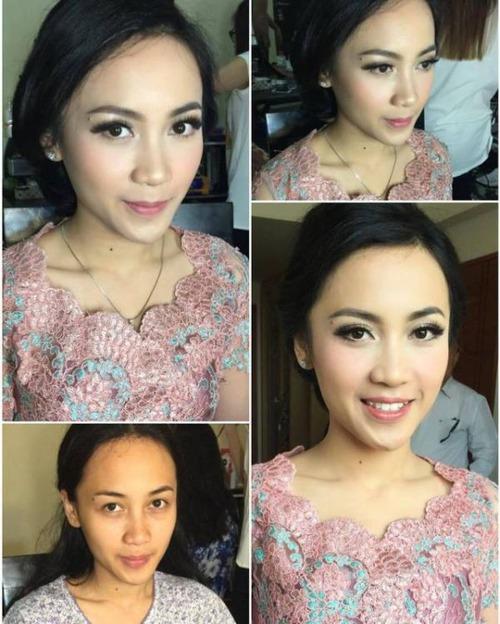 女性の化粧をする前と後の画像(16枚目)