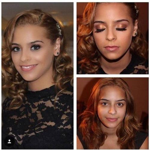 女性の化粧をする前と後の画像(24枚目)