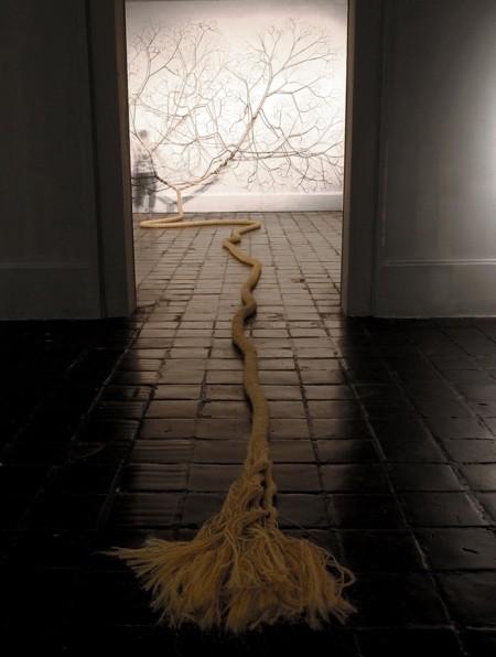 ロープをほぐして作った樹木05