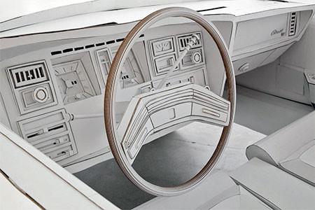紙だけで再現した自動車の画像(6枚目)