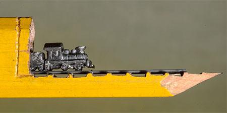 画像】鉄道模型のように鉛筆を加工したアートが凄い!!の画像(3枚目)